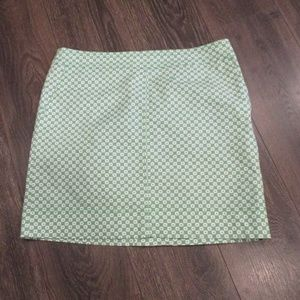 Talbot's Skirt Straight  Green/White 14P Petite